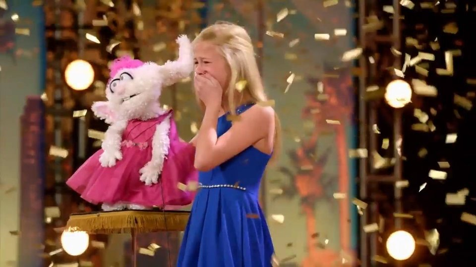 Photo - Oklahoma City singing ventriloquist Darci Lynne Farmer's 2017 Golden Buzzer-grabbing debut on