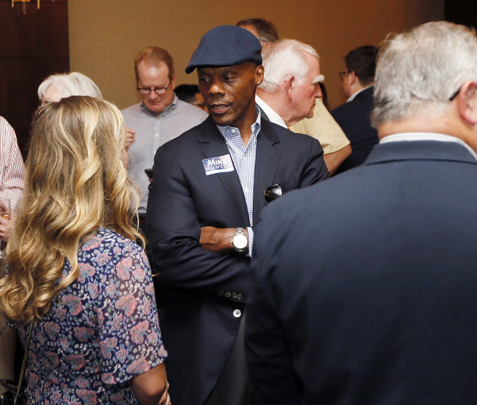 Photo - J.C. Watts at the watch party for Attorney General Mike Hunter at the Renaissance Waterford Oklahoma City Hotel in Oklahoma City, Tuesday, June 26, 2018. Photo by Nate Billings, The Oklahoman