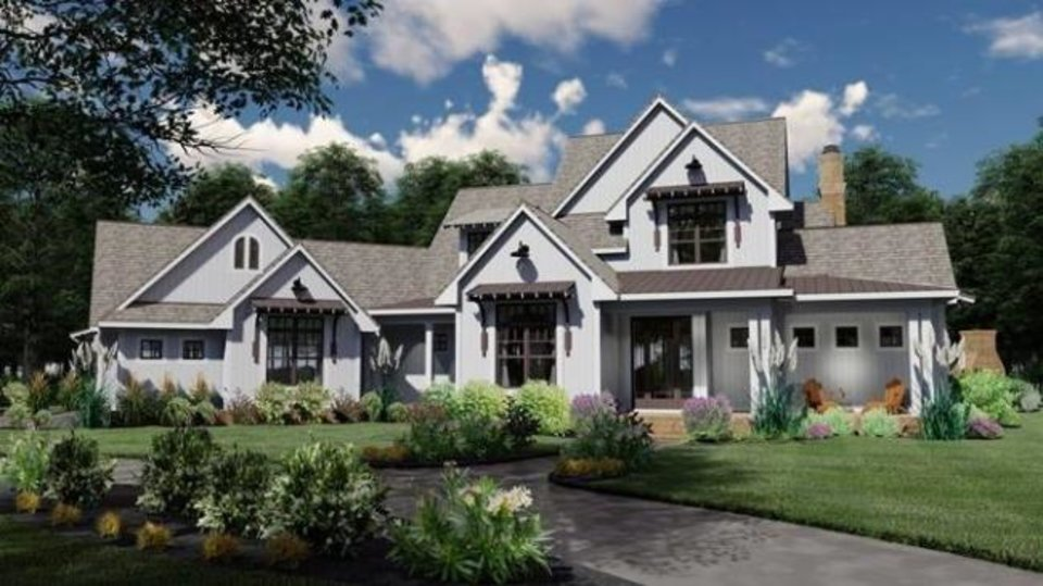 Photo -  This designer's drawing shows how the 2019 St. Jude Dream Home will  look. [IMAGE PROVIDED]