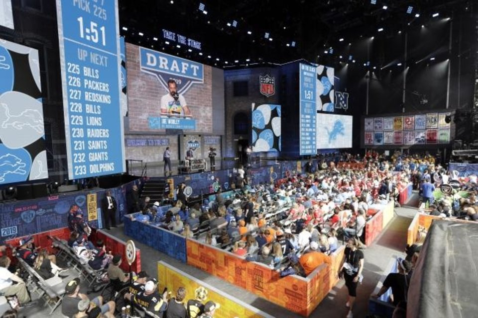 Photo -  Thousands of fans attend the final day of the NFL Draft Saturday in Nashville, Tenn. [AP Photo/Mark Humphrey]