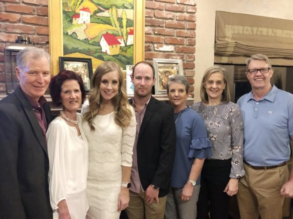Photo -  Mike and Julie Adams, Kiley Bush, Mark Adams, Carol Ann Bush, Karen and Chuck Cooley.