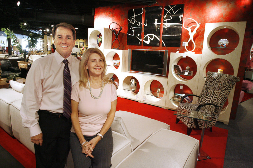 Jeff Burt And Sherry Burt, At Their Suburban Contemporary Furniture Store  In Oklahoma City Wednesday, Sept. 2, 2009. Photo By Paul B. Southerland, ...