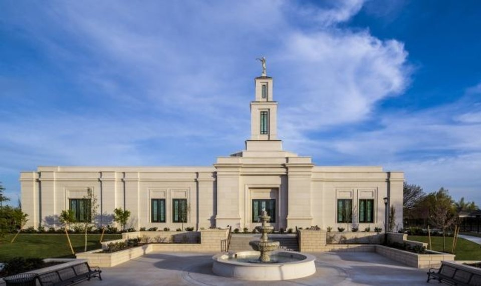 Photo -  The new Oklahoma City temple for The Church of Jesus Christ of Latter-Day Saints in Oklahoma City, Okla.   Photo Provided