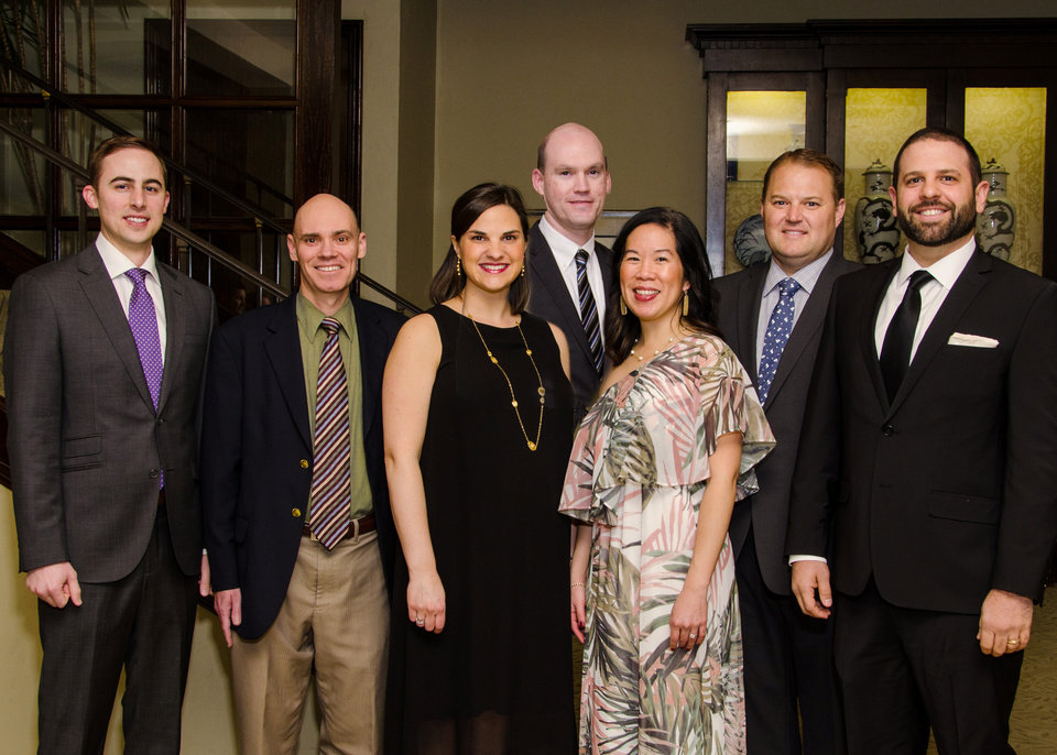 Photo - Dr. Nathan Overbey, Dr. Bret Haymore, Dr. Katherine Shepherd, Dr. Nathan Valentine, Dr. Judy Fong, Dr. Justin North, Dr. S. Christopher Shadid. PHOTO BY JOHN DOUGLAS