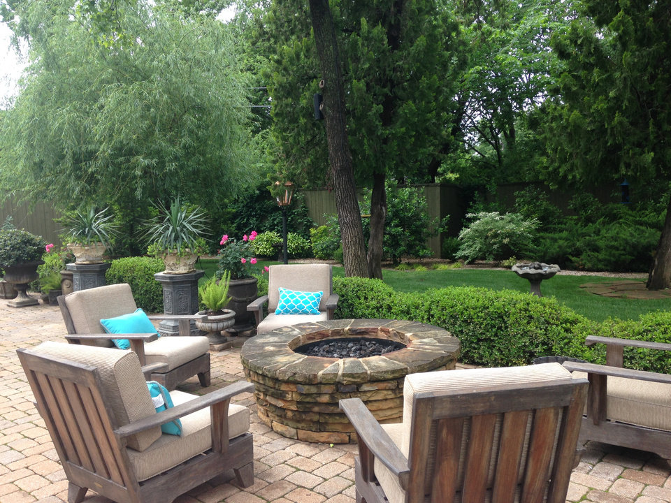 Popular Jamie and Clay Farha us garden and outdoor living area at Drury Lane will be one of five stops on the Nichols Hills Garden and Outdoor Living Tour May