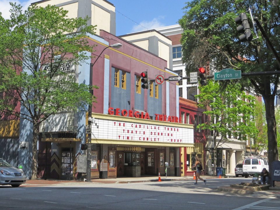 Photo -  Athens' Georgia Theatre, still a popular music venue, has ties to home-grown band R.E.M. [photo provided]