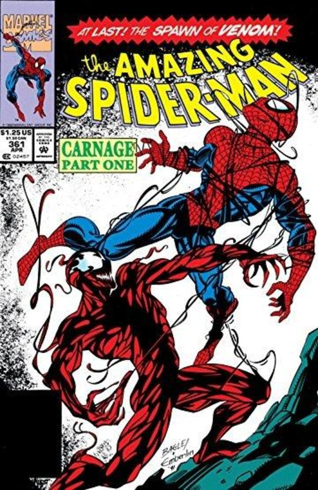 Photo -  Carnage: Spider-Man's foe Carnage first appeared in 1992. [Marvel Comics]