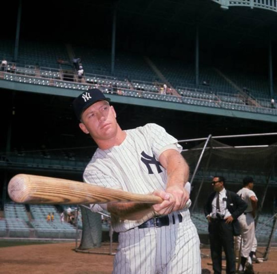 Photo - This is a 1961 photo of New York Yankees baseball player Mickey Mantle. AP Photo