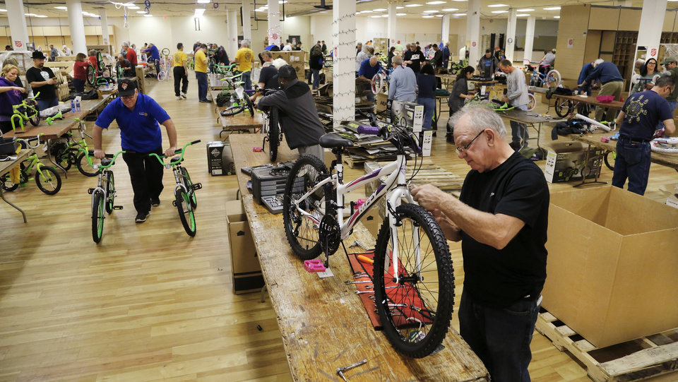 Salvation Army Volunteers Assemble More Than 1 500 Bikes For