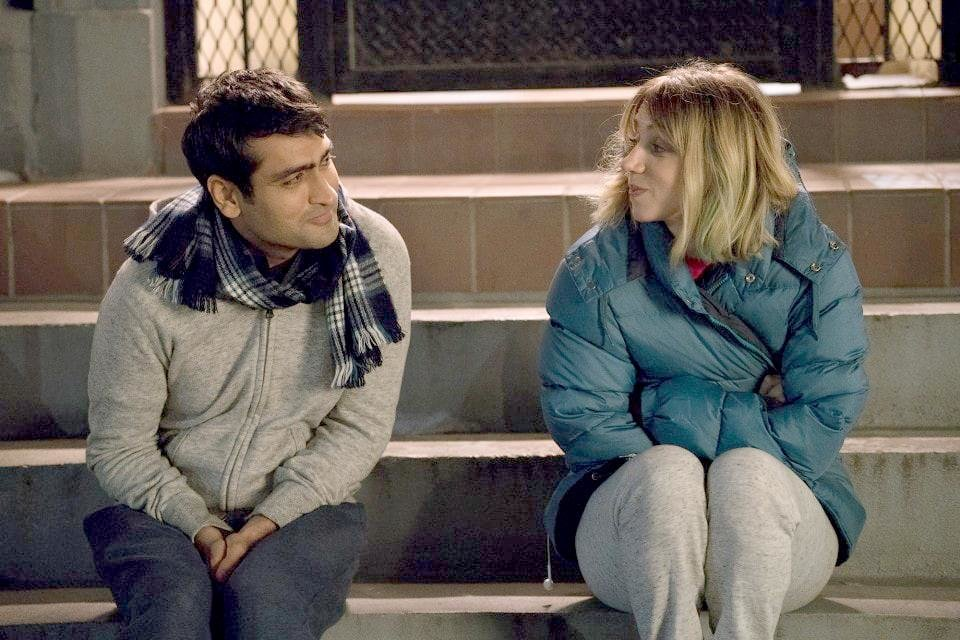 "Photo - In ""The Big Sick,"" Kumail (Kumail Nanjiani) and Emily (Zoe Kazan) are a young, fairly new couple who break up. When Emily is placed in a medically induced coma, Kumail takes charge of the crisis with her parents and rethinks their relationship. [Photo provided by Lionsgate]"