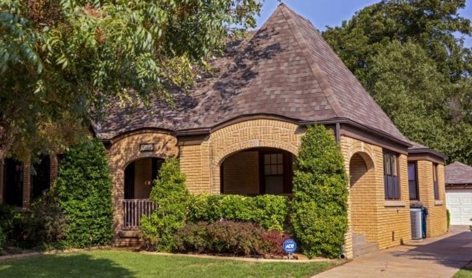 Photo -  Barbara Harrison's Tudor-style home at 3229 NW 21 was on the 2019 Linwood Place Historic Home Tour. [THE OKLAHOMAN ARCHIVES]