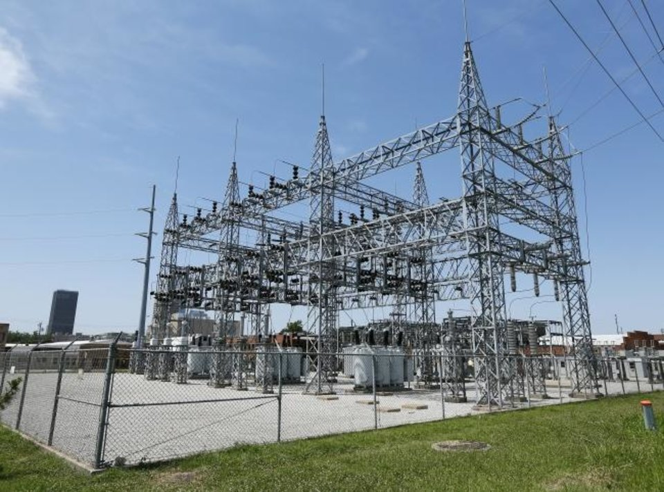 Photo -  An OG&E electrical substation at NE 10 and Oklahoma Avenue in Oklahoma City is seen in 2015. [OKLAHOMAN ARCHIVES]