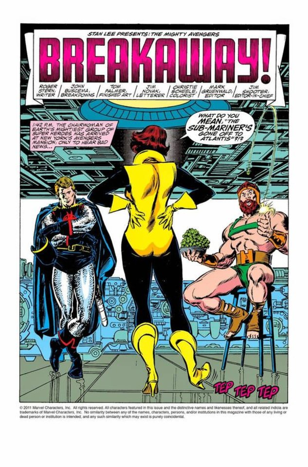 Photo -  The Wasp confronts her teammates in the pages of