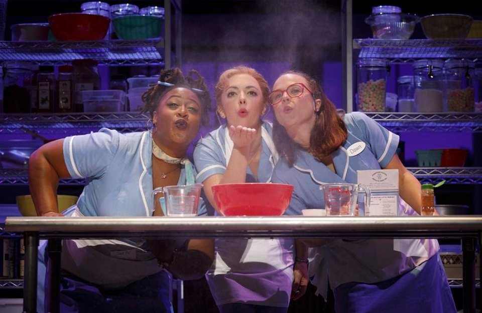 Photo - From left, Charity Angel Dawson, Desi Oakley and Lenne Klingaman appear in the national tour of