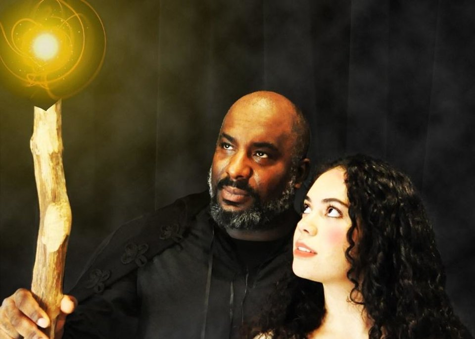 Photo - W. Jerome Stevenson stars as Prospero and Miranda Summar as Miranda in Oklahoma Shakespeare's new production of