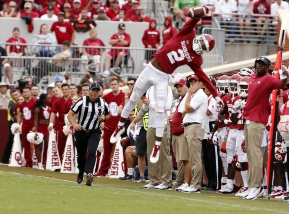 Photo -  Even in a 1,000-yard season like he had last year, OU's CeeDee Lamb may have been most known for just missing an insane one-handed catch against UCLA. [Steve Sisney/The Oklahoman archives]