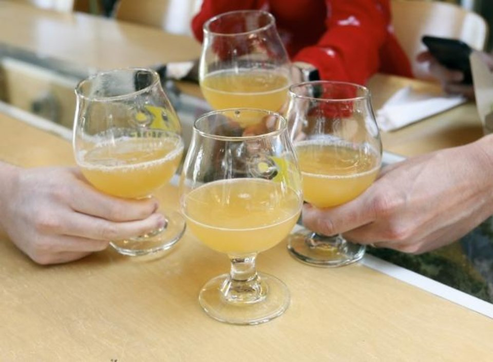 Photo -  Beer is served at Prairie Artisan Ales during a2019  tour of craft breweries in downtown Oklahoma City. [The Oklahoman Archives]