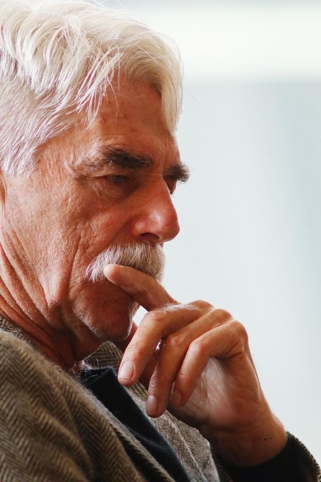 Photo - Sam Elliott appears during the Western Heritage Awards panel discussion featuring Elliott, Barry Corbin and Rex Linn at the National Cowboy & Western Heritage Museum. [Photo by Doug Hoke, The Oklahoman]