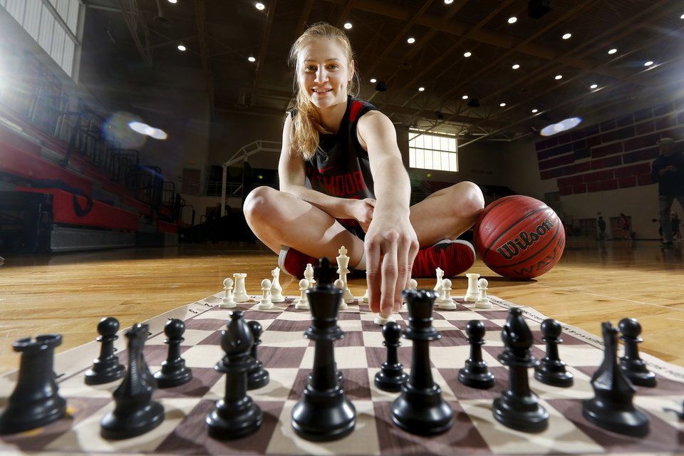 Photo -  Westmoore senior Veronika Zilajeva moved with her family from Latvia in 2013. It was there she learned chess. [Photo by Bryan Terry, The Oklahoman]