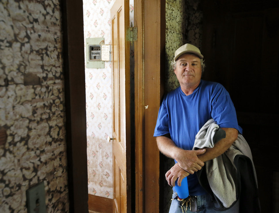 Photo -  Wayne Gipson talks about the Quanah Parker Star House. [Photo by Nate Billings, The Oklahoman]