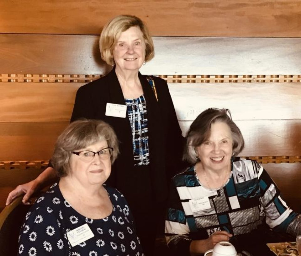Photo -  Dorothy Gray, Gail Barbre and Patricia Patton.