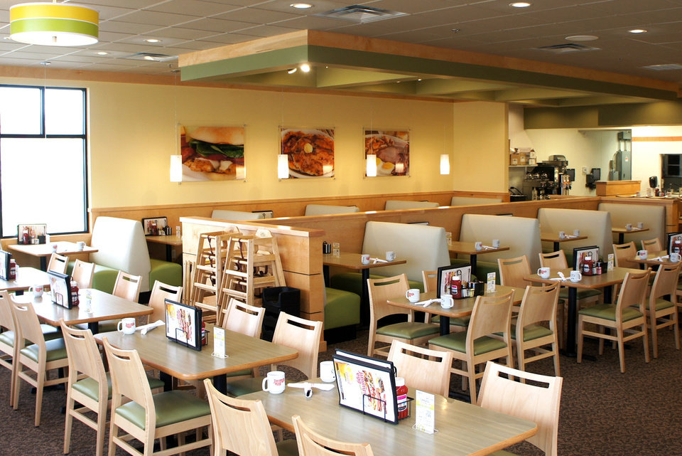 Photo -  The dining room of a recently opened Jimmy's Egg location in Joplin, Mo., is shown. [Photo provided]