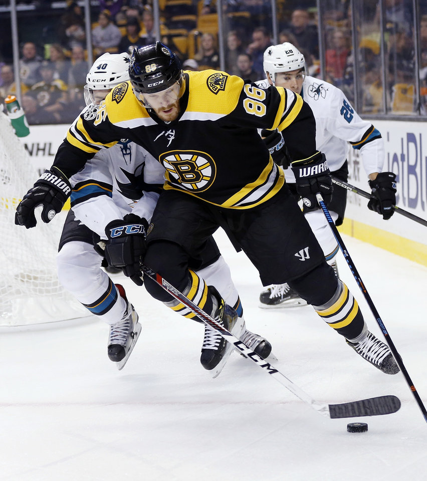 Heinen Scores 2 To Help Bruins Beat Sharks 2-1