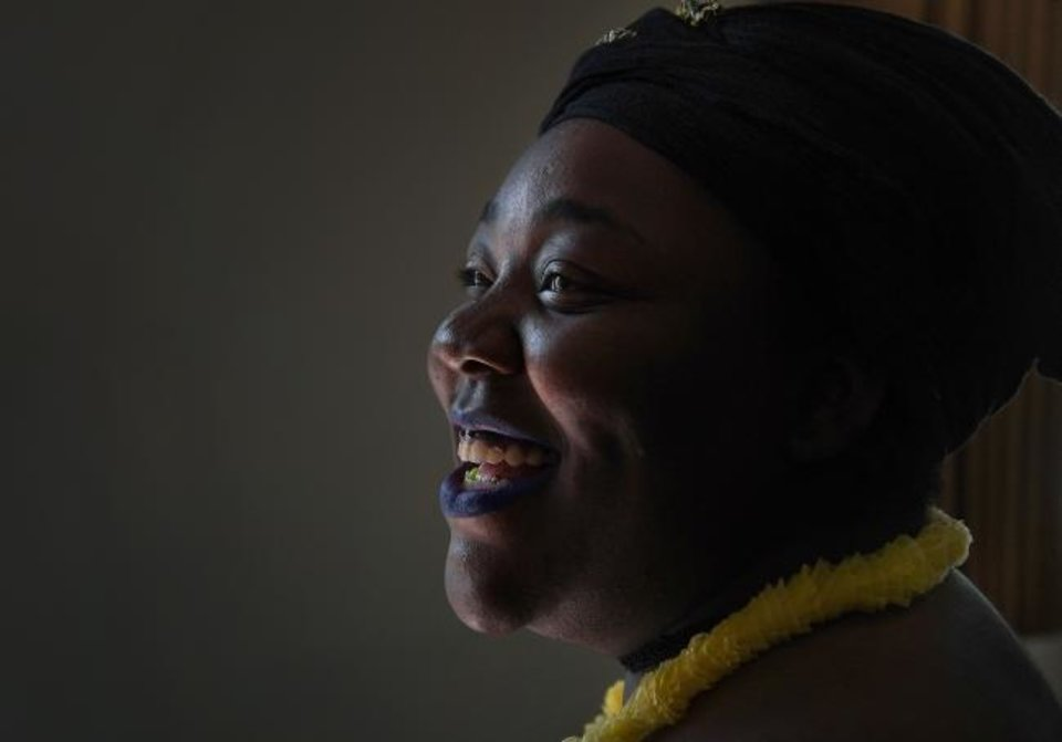 Photo -  Cierra Bailey, 21, is all smiles June 22 during a party for foster children in Washington. Bailey left the foster care system last November. [Michael S. Williamson/The Washington Post]