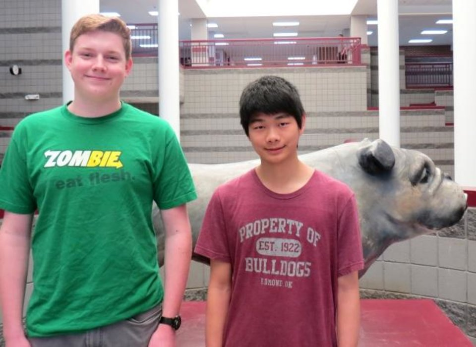 Photo -  Will Hartman and Kevin Zhang, of Edmond Memorial High School, earned perfect scores on the ACT College Entrance Exam. [PHOTO PROVIDED]