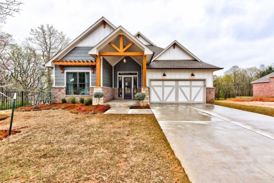 Photo -  Authentic Custom Homes' entry at  2408 Asaro Lane, in Creekside at Cross Timbers addition in Edmond, won Best Overall in the $360,000-$439,999 division of the Parade of Homes Fall Classic. [PROVIDED/CENTRAL OKLAHOMA HOME BUILDERS ASSOCIATION]