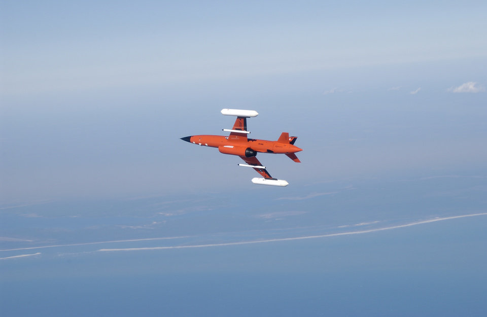 Photo -  A Kratos Defense & Security Solutions Inc. drone is shown in flight. T [Photo provided]