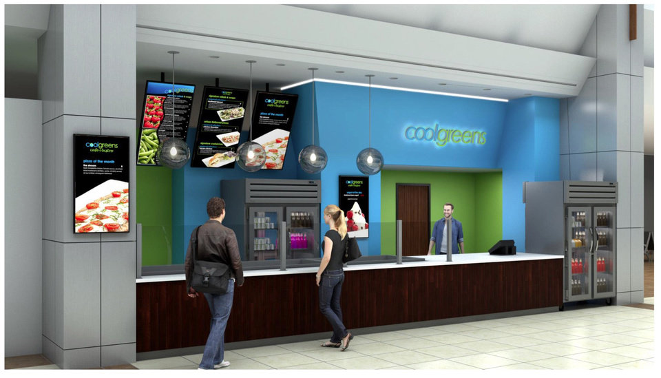 Photo -  Three new restaurants, Coolgreens, Tucker's Onion Burgers and Cinnabon, will be opening at Will Rogers World Airport within the next several months, officials announced Thursday. [Rendering provided]