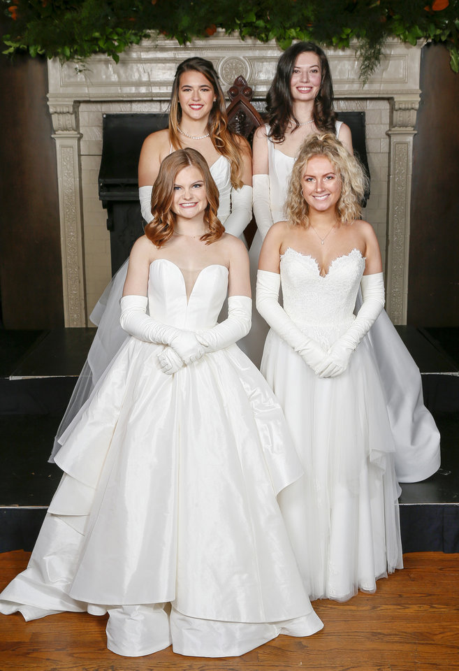 Photo - Sophie Bondurant, Mary Milam, back; Caroline Mullins, Lauren Platt, front. PHOTO BY NATE BILLINGS, THE OKLAHOMAN