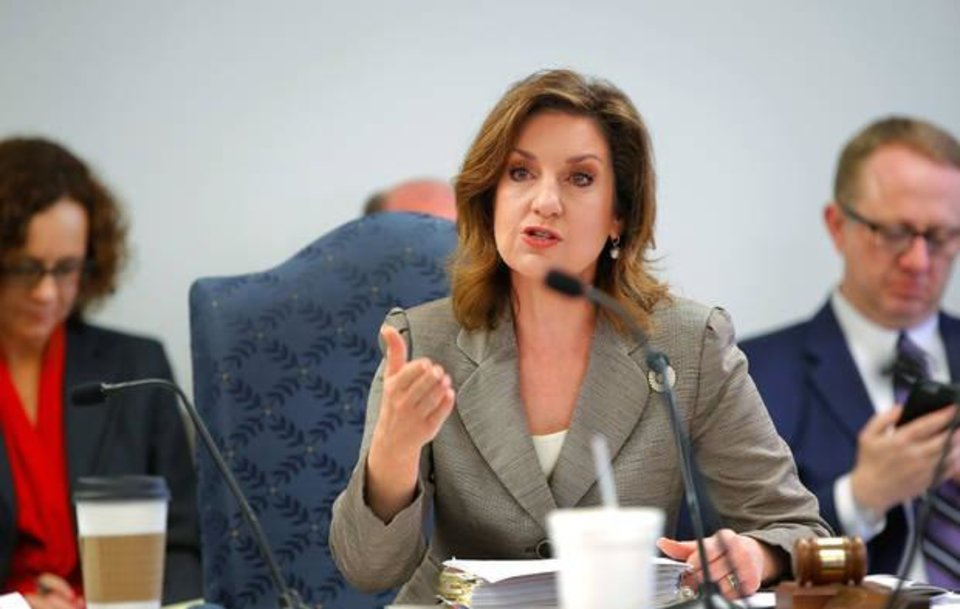Photo - FILE - Superintendent Joy Hofmeister speaks during a State Board of Education meeting Thursday, Oct. 22, 2015P. hoto by Jim Beckel, The Oklahoman.