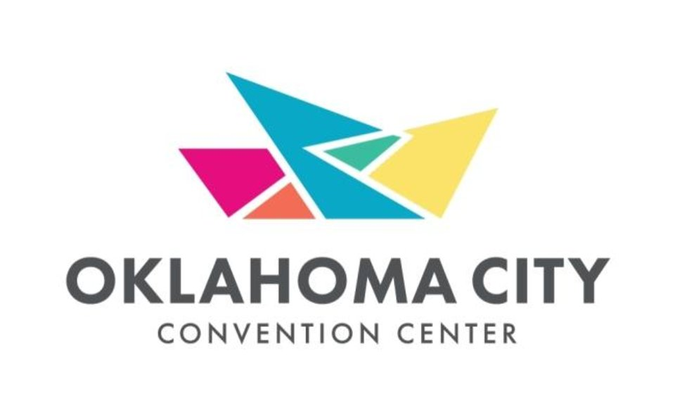 Photo -  The MAPS 3 convention center logo gives a sense of the building's architecture and, in the color palette, echoes the logo of Scissortail Park, its neighbor to the west. The Convention and Vistors Bureau has begun marketing the building; a recent report for the city council said 14 new booking opportunities for the convention center were identified in the first quarter of fiscal 2020. Construction is to be complete Sept. 19, 10 months from now.