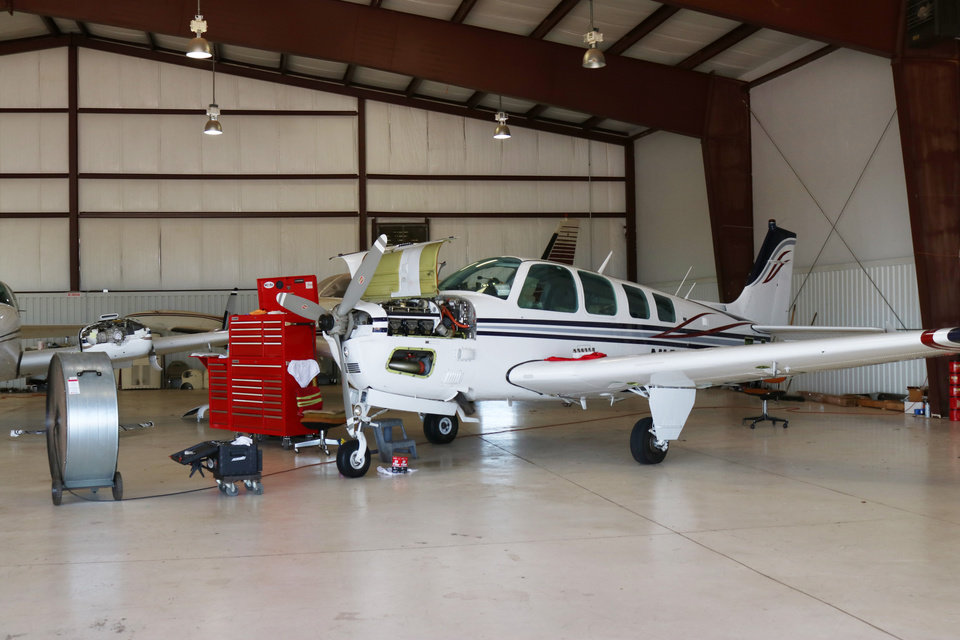 Photo -  The Guthrie-Edmond Regional Airport's fixed base operator can handle repairs, maintenance and fueling on site. [PHOTO BY JESSICA PHILLIPS, FOR THE OKLAHOMAN]