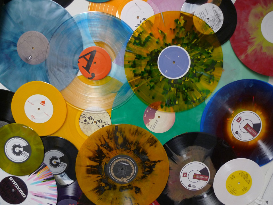 Photo - Records from Gotta Groove Records, one of the country's few remaining vinyl manufacturers. (Photo from Robert Reid)