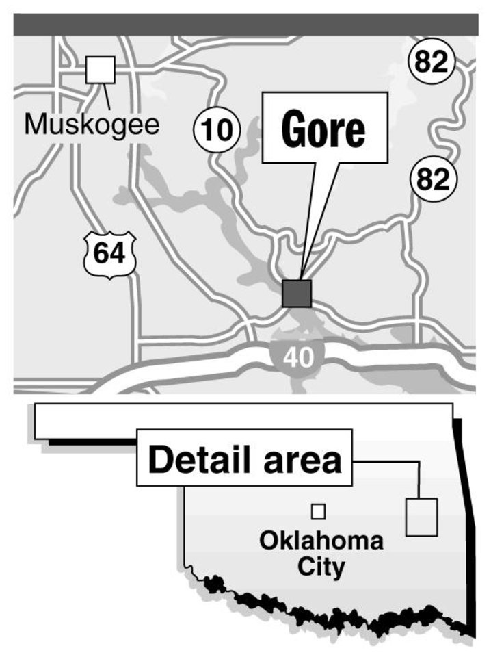 Photo - GORE / MUSKOGEE / MAP / GRAPHIC