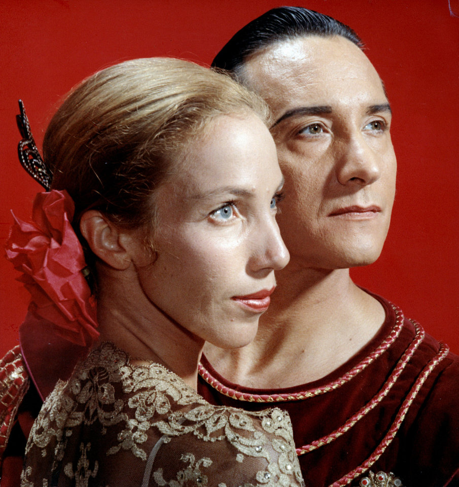 Photo - This studio portrait of Yvonne Chouteau and Miguel Terekhov was taken in July 1969. THE OKLAHOMAN ARCHIVES