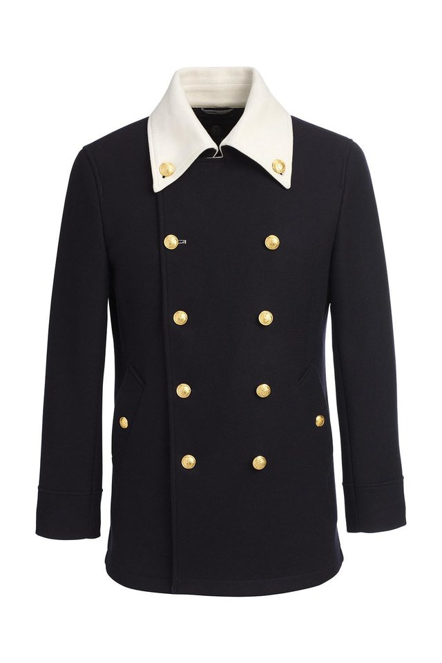 Photo - A pea coat style coat for men from Lands' End. [Photo Provided]