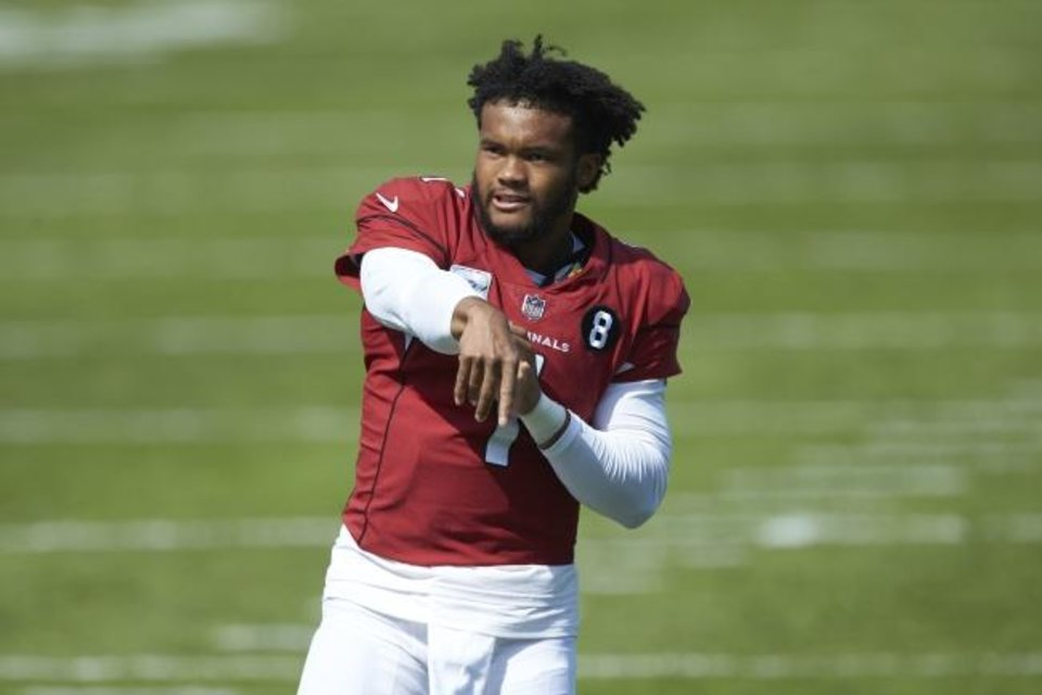 Photo -  Cardinals quarterback Kyler Murray won three straight Texas state titles with Allen High School and a Big 12 crown with Oklahoma at AT&T Stadium in Arlington. [AP Photo/Brian Westerholt]