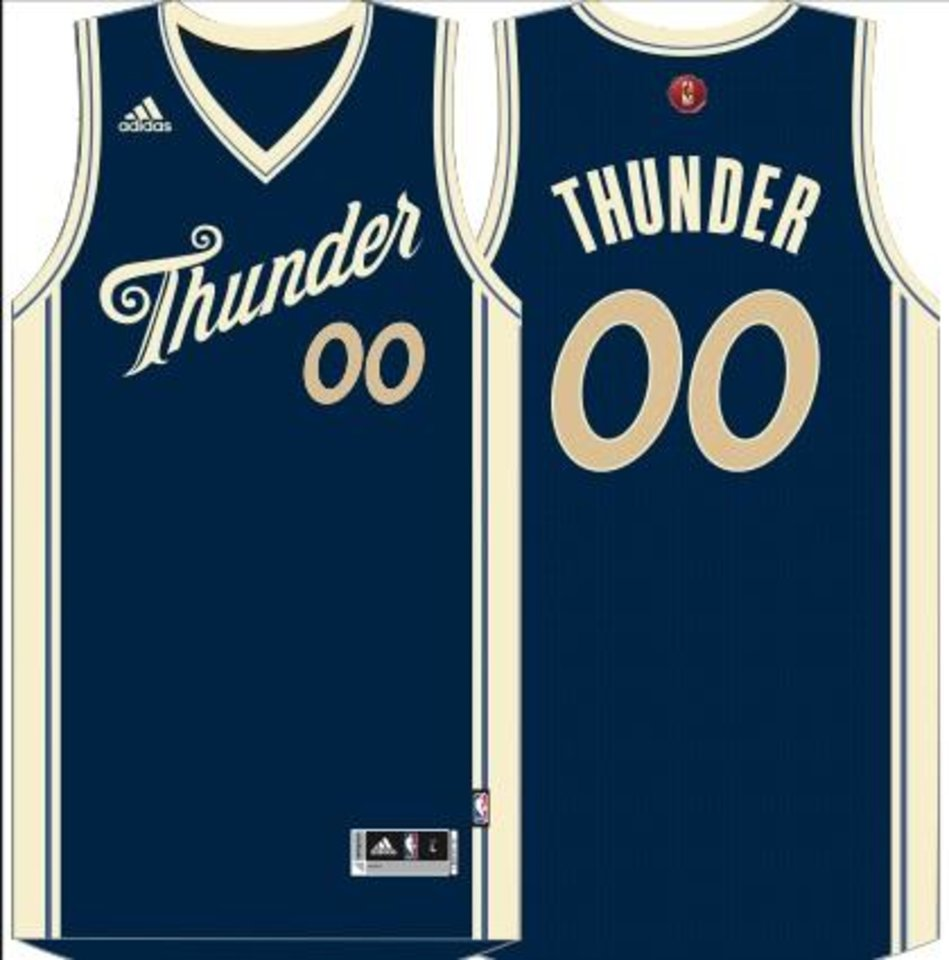 PHOTOS: The Thunder\'s leaked NBA Christmas jersey looks fantastic