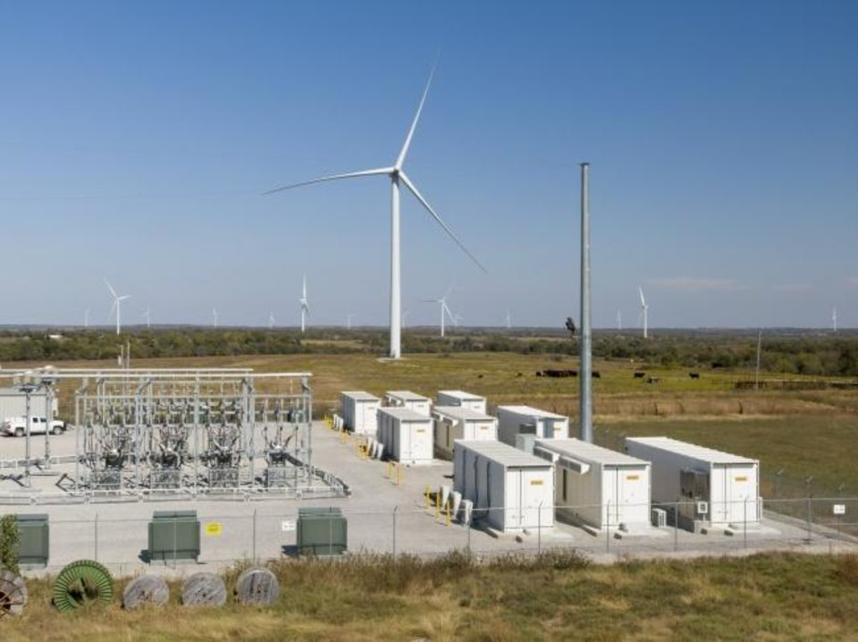 Photo -  NextEra Energy Resources' Rush Springs Energy Storage Facility near Marlow. [PHOTO PROVIDED/NEXTERA ENERGY RESOURCES]