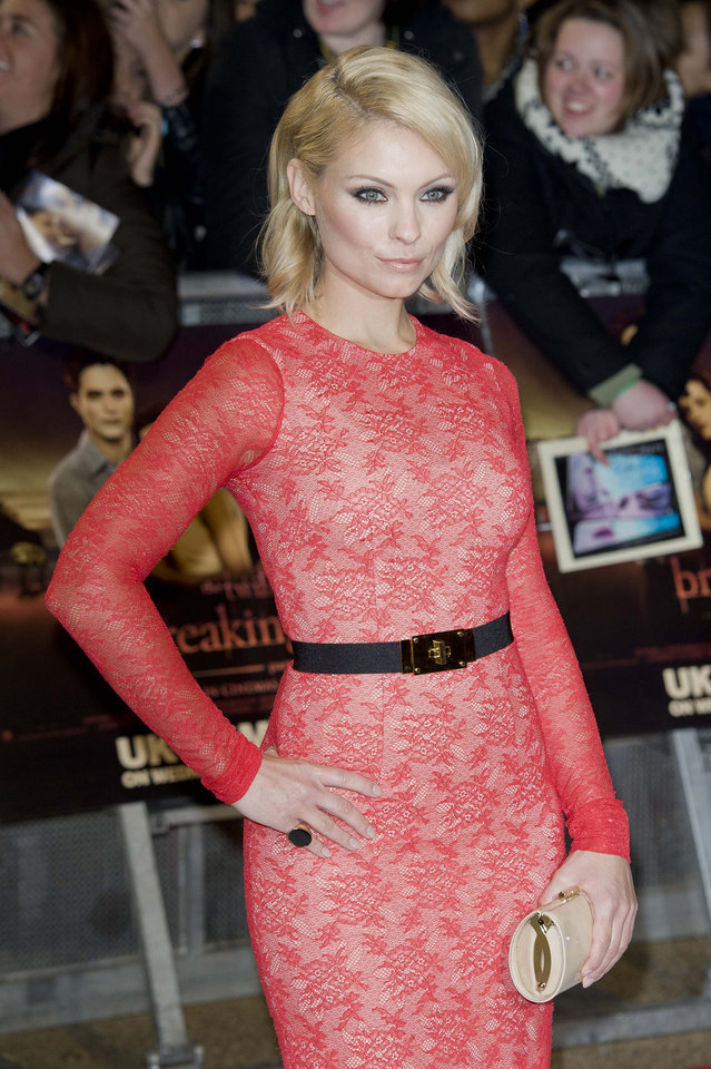 Photo - Swedish actress MyAnna Buring arrives for the UK premiere of 'Twilight Breaking Dawn Part 1' at a central London venue,  Wednesday, Nov. 16, 2011. (AP Photo/Jonathan Short) ORG XMIT: LJS114