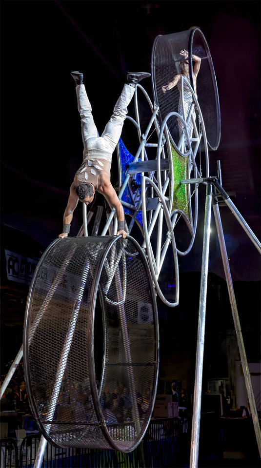 Photo - Impressive stunts are part of the show. Photo provided by OKC India Shriners.