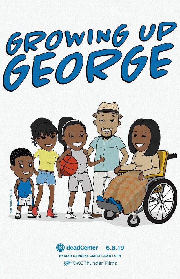 "Photo - ""Growing Up George,"" an animated short film about Thunder NBA All-Star Paul George, will show at the 2019 deadCenter Film Festival. [Poster image provided]"