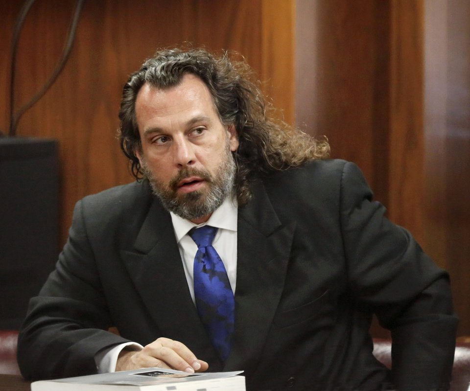 Photo -  Jay T. Silvernail in court Wednesday. [Photo by Jim Beckel, The Oklahoman]