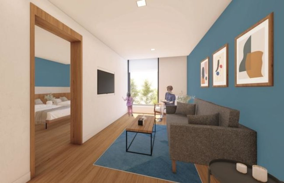 Photo -  The Chad Richison Hope Lodge will feature 34 suites with a small living area provided free to visiting cancer patients. [MILES ASSOCIATES]