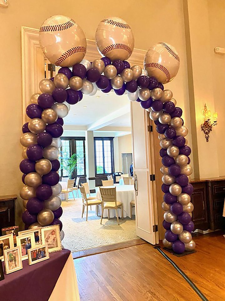 Photo - Balloon arch at the party. PHOTO PROVIDED