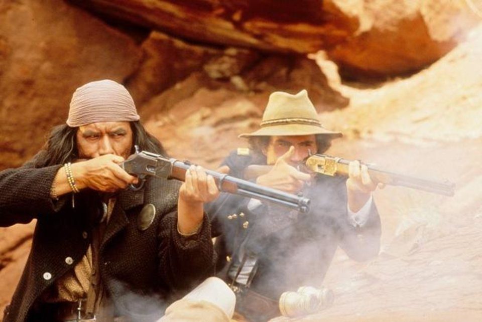 Photo -  Wes Studi, left, and Jason Patric appear in a scene from the 1993 film